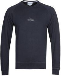 Norse Projects Ketel Wavy Logo Navy Sweatshirt - Blue