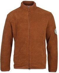 Fred Perry Borg Cognac Zip Fleece Jacket - Brown