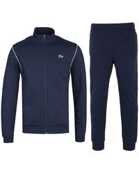 Lacoste Funnel Neck Navy Tracksuit - Blue