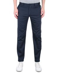Tommy Hilfiger Tapered Fit Th Flex Navy Trousers - Blue