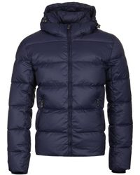 Pyrenex Spoutnic Amiral Blue Hooded Down Jacket