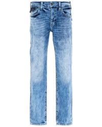 True Religion Ricky Relaxed Straight Fit Jeans - Light Blue