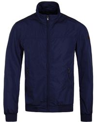 Hackett - Royal Blue Nylon Blouson Jacket - Lyst