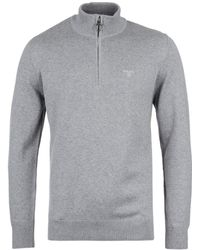 Barbour - Grey Marl Hal Zip Sweater - Lyst