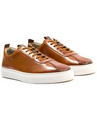 Grenson Trainer 1 Leather Trainers - Brown