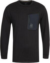 Maharishi Tech Pocket Organic Long Sleeve T-shirt - Black