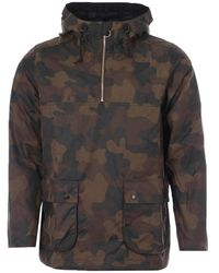 Barbour White Label Waxed Cotton Smock Jacket - Green