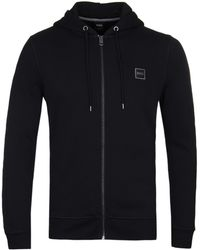 BOSS by Hugo Boss - Znacks Black Zip Hoodie - Lyst