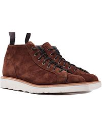 Tricker's Tricker's Ethan Ridge Kudu Reverse Suede Lace Up Boots - Brown