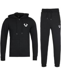 True Religion Lullaby Hooded Sweatshirt Tracksuit Set - Black