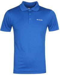 Columbia Zero Rules Dark Blue Short Sleeve Polo Shirt