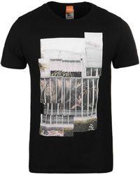 BOSS Orange - Tonight Black Jolly Palms Short Sleeve T-shirt - Lyst