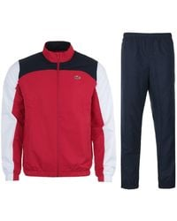 Lacoste Sport Color Block Tracksuit - Red & Navy