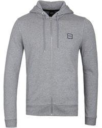 BOSS Znacks Grey Zip Hoodie - Gray