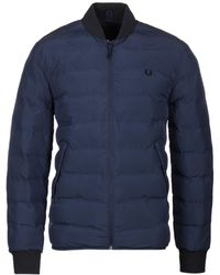 Fred Perry Dark Airforce Insulated Bomber Jacket - Blue