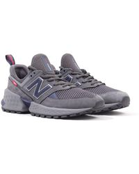 New Balance 574 'decades Pack' Mesh & Nubuck Sneakers - Charcoal & Navy - Gray