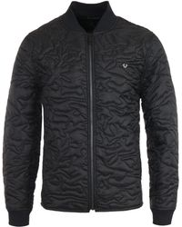 True Religion - Camo Quilted Liner Jacket - Black - Lyst