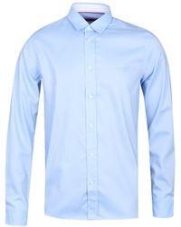 HUGO Evory-logo Light Blue Shirt