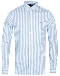 Tommy Hilfiger Slim Houndstooth Blue Shirt