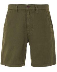 Nudie Jeans Luke Rigid Twill Worker Shorts - Green