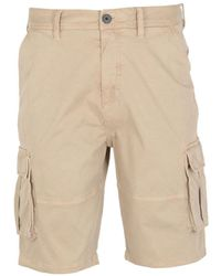 Lyle & Scott Stone Relaxed Cargo Shorts - Natural