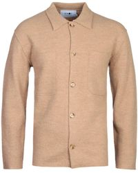 NN07 6398 Jonas Brown Wool Overshirt