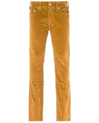 True Religion Rocco Relaxed Skinny Desert Sand Corduroy Pants - Natural