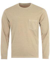 Nudie Jeans Rudi Long Sleeve Pocket T-shirt - Natural