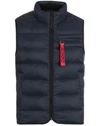HUGO Baltino Water Repellent Sustainable Navy Padded Gilet - Blue