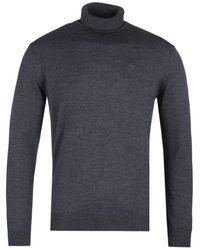 Emporio Armani Charcoal Gray Turtle Neck Sweater