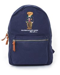 Polo Ralph Lauren - Polo Bear Canvas Backpack - Dark Blue - Lyst