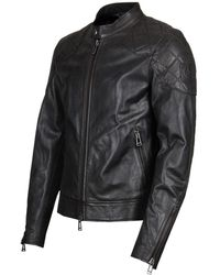 e7e88a8318 Belstaff Clenshaw Bomber Jacket in Black for Men - Lyst