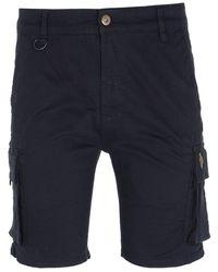 Luke 1977 Club Future Cargo Shorts - Blue