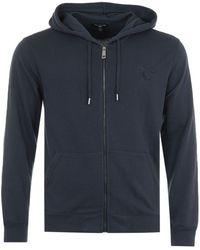 True Religion - Arch Logo Zip Hooded Sweatshirt - Night Sky - Lyst
