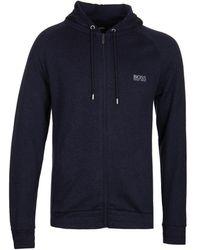 BOSS by Hugo Boss Bodywear Cashmere Navy Hoodie - Blue