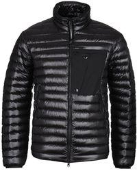 C P Company - Dd Shell Zip-through Black Down Padded Jacket - Lyst