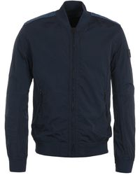 BOSS by Hugo Boss Lightweight Navy Bomber Jacket - Blue