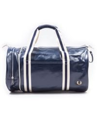 Fred Perry Classic Barrel Bag - Navy - Blue