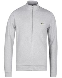 Lacoste Grey Marl Full Zip Sweat Jacket - Gray