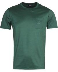 Paul & Shark Logo Pocket Green T-shirt