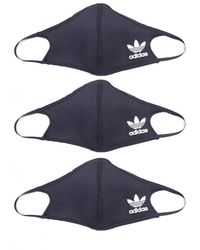 adidas Originals 3 Pack Black Facemasks
