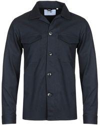 NN07 5137 Bernard Navy Overshirt - Blue