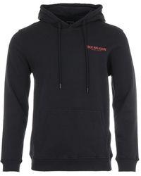 True Religion - Logo Hooded Sweatshirt - Black - Lyst