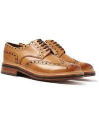 Grenson Archie Tan Brogues - Brown
