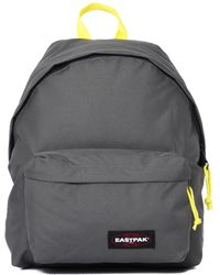Eastpak - Padded Pak'r Gray & Yellow Backpack - Lyst