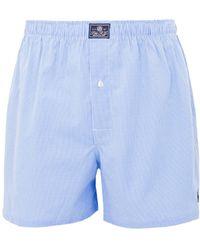 Polo Ralph Lauren Classic Cotton Boxers - Blue Check