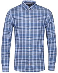 Tommy Hilfiger - Coloured Check Blue Chambray Shirt - Lyst