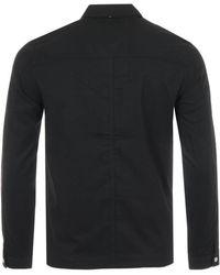 Pretty Green Brushed Field Overshirt - Black