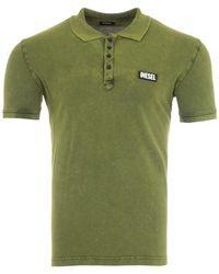 DIESEL T-randy Velcro Logo Polo Shirt - Green