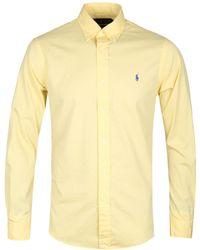 Polo Ralph Lauren - Yellow Featherweight Mesh Long Sleeve Shirt - Lyst